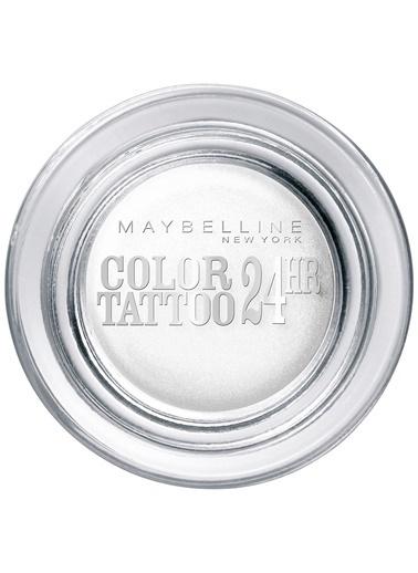 Maybelline Color Tattoo 24H Mat Göz Farı - 45 Infinite White - Metalik Beyaz Gri
